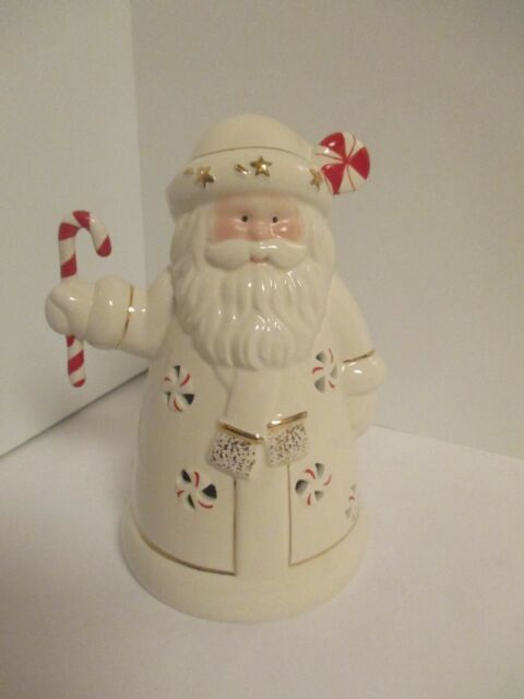 Lenox Santa Claus Seasons Sparkle Peppermint Splendor 6 75 Lights Up New In Box Ebay