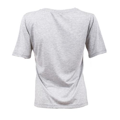 Ex Dunnes Women/'s Grey L/'Amour Print Short Sleeve Cotton T-Shirt