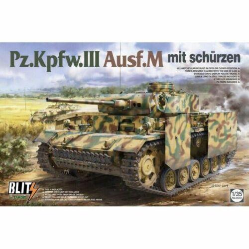 M mit Schürzen Takom Model 1:35 Panzer III Ausf