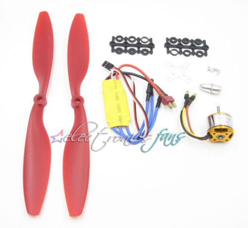 A2212 1000KV Brushless Motor w//30A Brushless ESC+1045 Propeller DJI F450//550