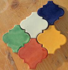 "9~Talavera Mexican Lantern Tiles you choose color back splash 4-1/4"" washed"