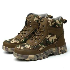 Details about Mens Womens High Top Safety Work Boots Steel Toe Combat Army  Shoes Winter 3516 1174a860a1