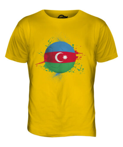 AZERBAIJAN FOOTBALL MENS T-SHIRT TEE TOP GIFTWORLD CUP SPORT