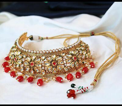 Traditional Jewelry Kundan Jewelry Bridal Jewelry Meenakari Designer Indian Jewelry Gold Plated Green Stone Necklace Set Kundan Jewelry