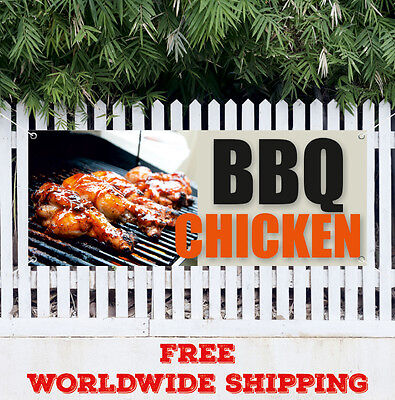 Chicken Barbecue Food And Drink Vinyl Banner Sign W ...   Bbq Chicken Sign