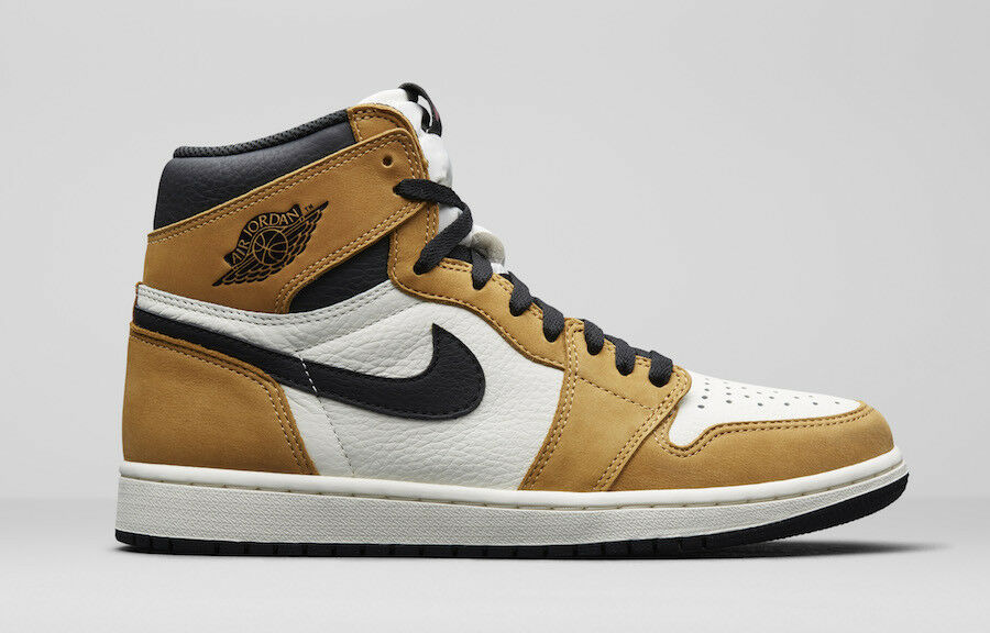Nike air og jordan retro - 1 hohe og air sz 8,5 rookie des jahres gold 555088-700 23685b