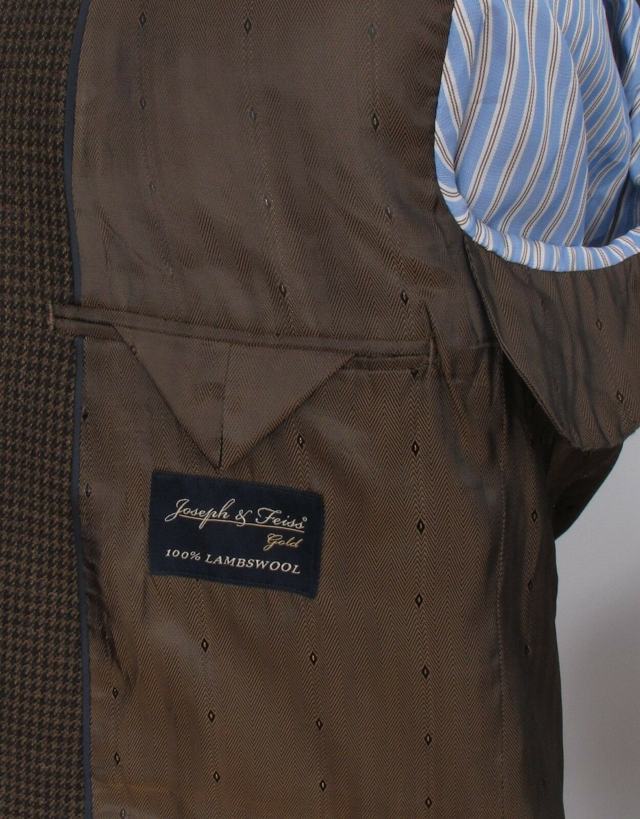 Joseph & & & Feiss oro Houndstooth Tweed Sportcoat 100% Lambswool 42L 2 Button e0fcd6