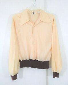 Vintage-1960-Gaucho-Originals-Shirt-Pullover-grosser-Kragen-Rockabilly-Mod-S-Small