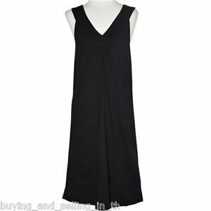 9c471316b552 Image is loading SNOOZE-ZONE-Black-Cotton-Nightie-Nightdress-Sleepwear-PJ-
