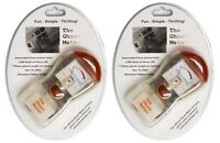 Ghost Hunting Meter Emf Detector Led Light Audio Alert X 2 + Free 9v Batteries