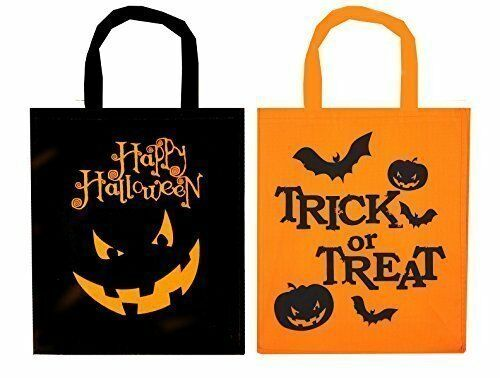 2 x Halloween Felt Fabric Treat Bags