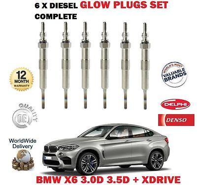 M57 Engine//N57 Engine Rear Brake Discs /& Pads 08 BMW X6 E71 30d xDrive