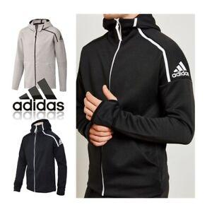 Neu Adidas Zne Top mit Kapuze Sz 2XL Schwarz Grau Training