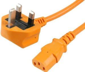 2 M Uk Alimentation Secteur Câble Pour C13 Bouilloire Plomb Cordon Orange-afficher Le Titre D'origine