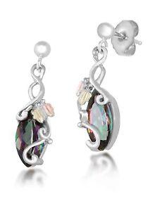 Image Is Loading Black Hills Gold Mystic Fire Topaz Earrings Womens