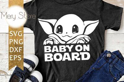 Baby yoda SVG,SVG file PNG file EPS file DXF file Cricut Files