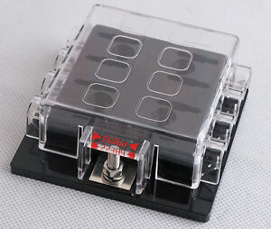dc32v 8 way circuit car boat automotive auto blade fuse. Black Bedroom Furniture Sets. Home Design Ideas