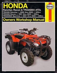 haynes repair manual honda rancher recon trx250 350 atv ebay rh ebay com 2000 Honda Recon Tires 2000 Honda Recon Tires
