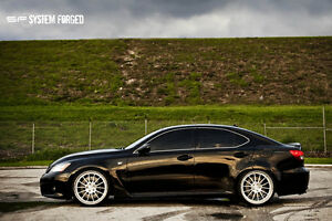 Poster Of Lexus Isf Is F On 360 Forged Wheels Hd Print Ebay