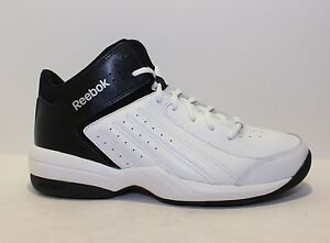 681f89b39743ae REEBOK First Quarter Attack Men s Basketball Shoes White Black NWD ...