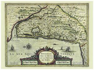 Bordeaux-Gironde-Aquitaine-France-illustrated-map-Hondius-ca-1633