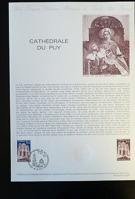 Strict France Musee Postal Fdc 13-80 Cathedrale Du Puy 3,20f Le Puy 1980 Architecture Stamps
