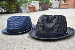 51354c5c605bf Image is loading Mens-Summer-Fedora-Hat-Poly-braid-Stingy-Brim-