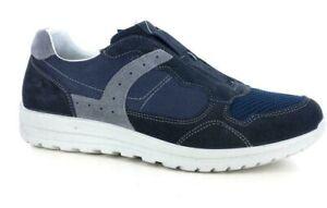 Zapatos-Grisport-de-Piel-Autentica-Slip-En-Hombre-Art-42416-Con-Azul-Hecho-Italy