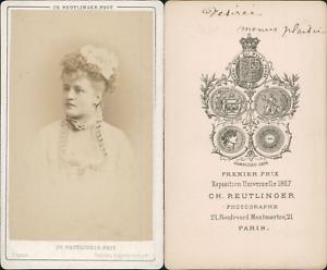 Reutlinger-Paris-Desiree-actrice-Vintage-CDV-albumen-carte-de-visite-CDV