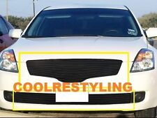FOR 2007 08 09 Nissan Altima Sedan Black Billet Grille Grill Combo Inserts