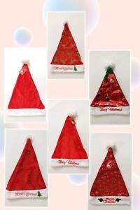 US-Seller-6pcs-Christmas-Hats-Soft-Plush-Santa-Claus-Family-Gift-Unisex-One-Size