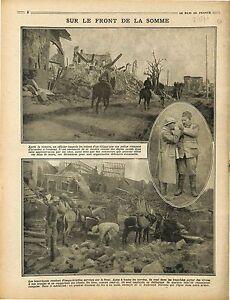 Officier-Poilus-Bataille-de-la-Somme-Tranchees-Bourriquets-Mules-Ruines-1916-WWI