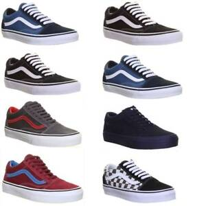 Vans Skate Shoes Old Skool Womens Plimsolls Canvas Lace Up Trainers ... edb54210a6e0