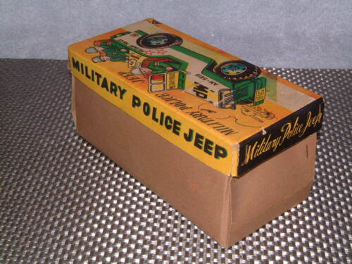 VINTAGE MITSUHASHI MILITARY POLICE TIN FRICTION DRIVEN JEEP W/BOX! RARE Alle Artikel in Elektrisches Spielzeug