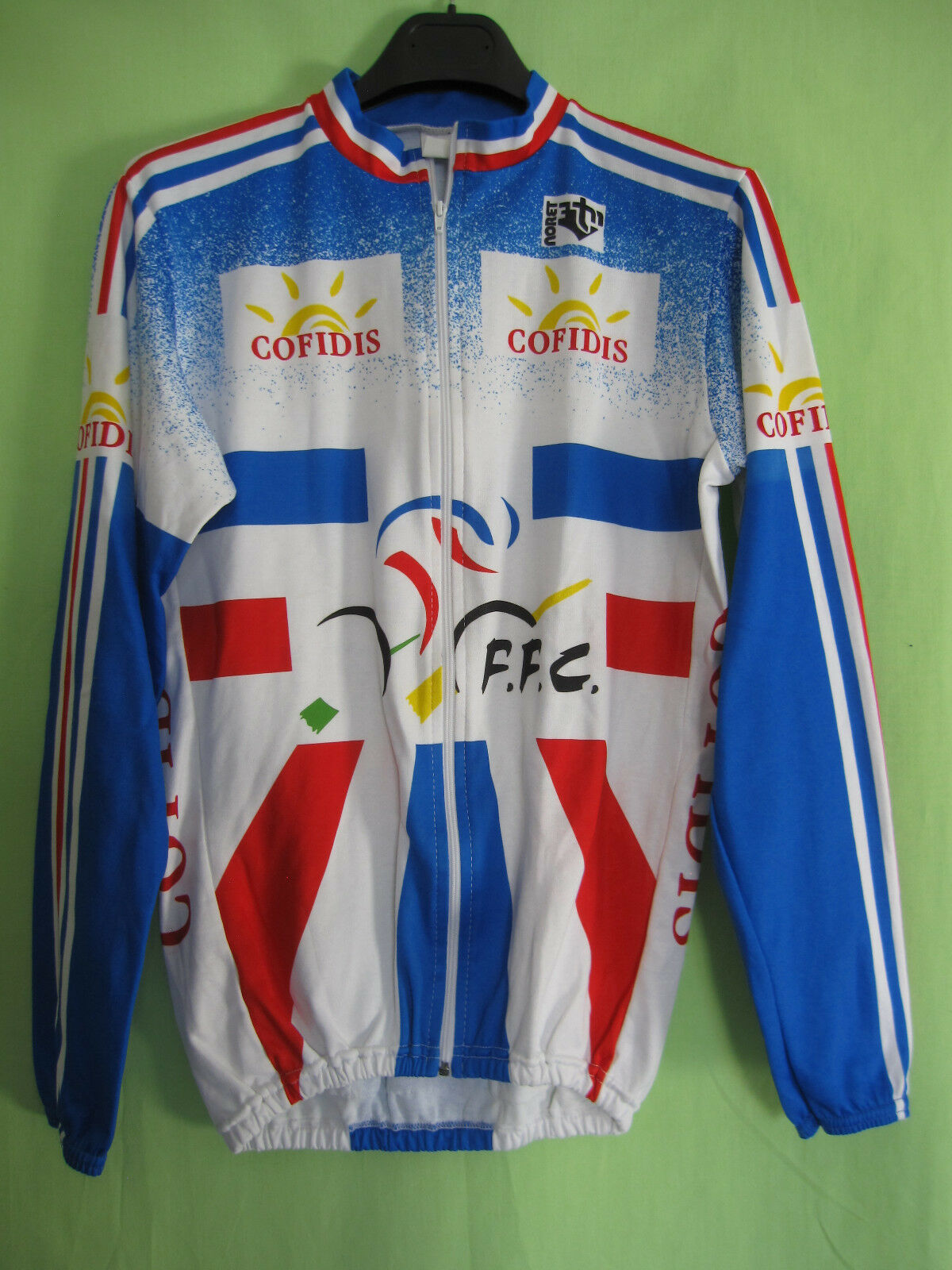 Maillot Cycliste Equipe France Noret Cofidis FFC vintage Cycles jersey - 3   M