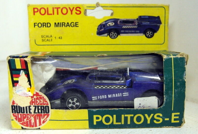 Politoys 1 43 Scale E15 Ford Mirage bluee diecast model car