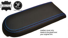 BLUE STITCH REAL LEATHER ARMREST LID COVER FOR VW GOLF MK4 JETTA GTI 1998-2005