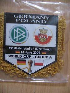 PETIT FANION 10*9 CM GERMANY DEUTSCHLAND Vs POLAND POLSKA WORLD CUP 2006 GROUP A - France - FANION 109 CM GERMANY DEUTSCHLAND Vs POLAND POLSKAWORLD CUP 2006 GROUP A - France