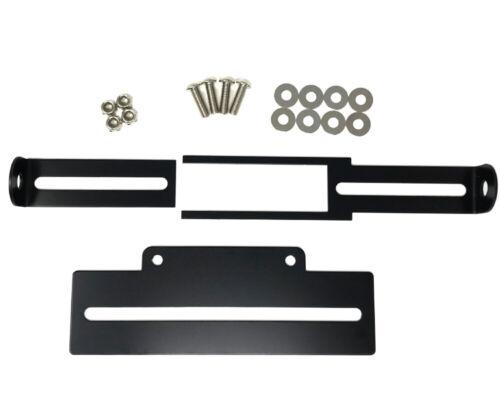 BLACK Adjustable Top Quality Motorbike Tail Tidy Number License Plate Holder