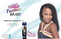 Shake N Go Freetress Braid Bohemian Braid 20 Curling Iron Safe Hair For Braid