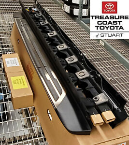 new oem toyota highlander 2020 2021 stainless steel running boards 2 peice set ebay details about new oem toyota highlander 2020 2021 stainless steel running boards 2 peice set