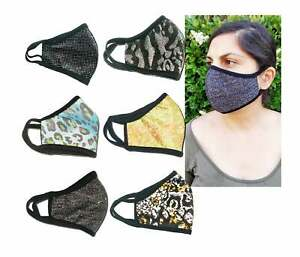SAME DAY SHIPPING Double Layered,Made in USA ,Washable, Sparkle Shinny Face Mask