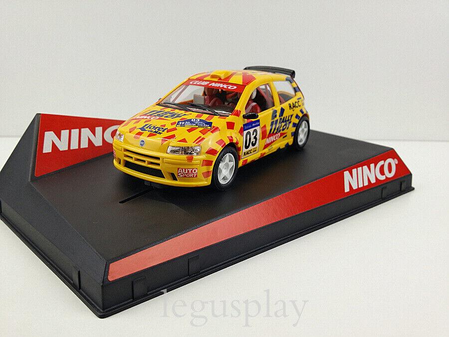 Slot car Scalextric Ninco Fiat Punto Catalunya-Costa Brava Official Rally Driver