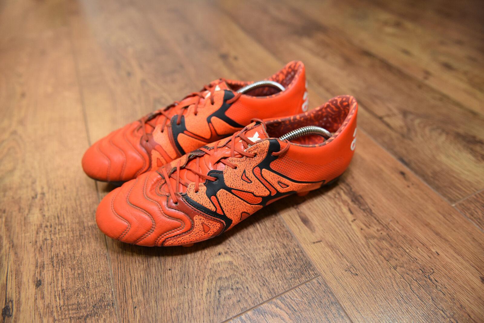 Adidas X 15.1 Cuero Pro Fg botas De Fútbol Talla 12 Reino Unido G. Bale