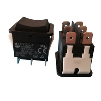 KEDU HY12-9-3 6 Pins Industrial Electric Rocker Switch 125V Pushbutton Switches