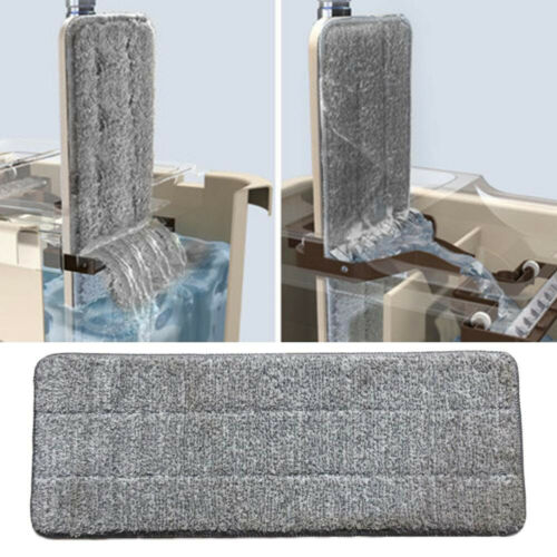 4PCS Microfiber Mop Pads Head Wet Dry Mops Refill For Flat Mop Base