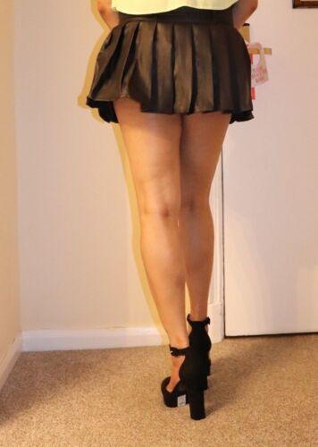 Black Pleated School Girl Short Skirt Women/'s Kilt Micro Mini High Waist Party