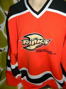 6423a03ad Image is loading Anaheim-Ducks-The-Rinks-Hockey-Jersey-XL-Westminster-