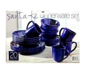 Image is loading Tuxton-Home-Santa-Fe-Dinnerware-Set-20-Piece-  sc 1 st  eBay & Tuxton Home Santa Fe Dinnerware Set 20 Piece Blue Mugs 738294036572 ...