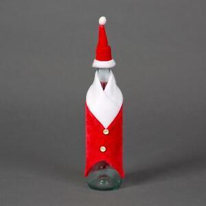 3//6Pcs Fancy Santa Outfit Christmas Wine Bottle Bag Cover Xmas Table Party Decor